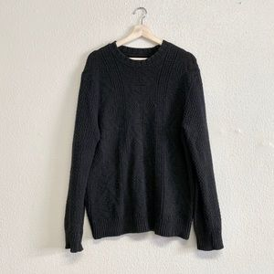 J. Crew Black Cable Knit Sweater